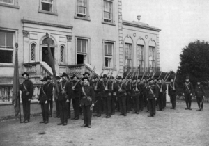 The Citizen Army, armed and in uniform, parade in 1915.