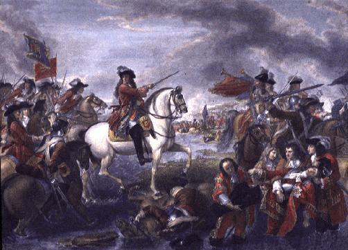 William depicted crossing the Boyne