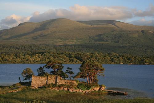 The ruins of the MacCarthy Mor castle, near Killarney