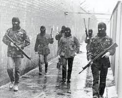 Provisional IRA members in Belfast, 1980s.