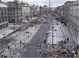 O'Connell Street after the 2006 riot.