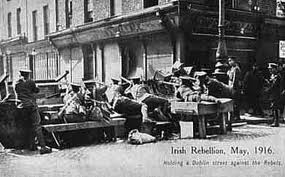 A British barricade at Moore Street.
