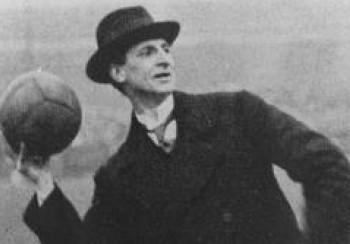 Eamon de Valera throws in the ball at Croke Park.