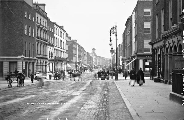 O'Connell Street Limerick, scene of rioting in 1922.