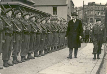Aiken inspects Irish troops in 1954.