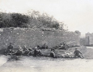 British soldiers from a Scottish regiment relaxing in West Clare during the War of Independence. Two Royal Scots were shot and secretly buried in the campaign.