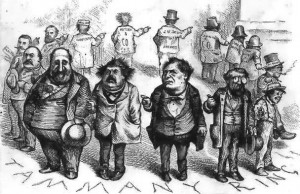 A cartoon criticising Tammany Hall corruption.