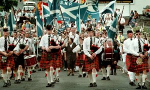 Scottish Nationalists march. Their predecessors in the early 20th century took some inspiration from Irish cultural nationalism.