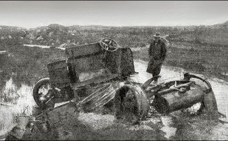The aftermath of teh Kilmichael ambush, November 1920, in which 17 Auxiliaries and three IRA men were killed.
