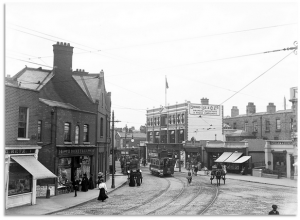 Rathmines Terrace, site of Dwyer's business and of his murder.