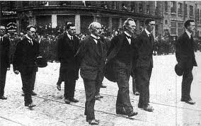 The Free State cabinet at Michael Collins funeral in August 1922.