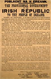 The 1916 proclamation of independence.