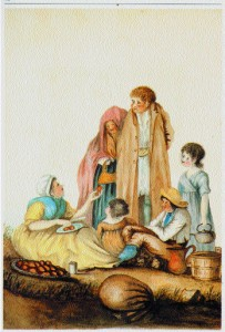 A 19th century depiction of the rural poor in Ireland.