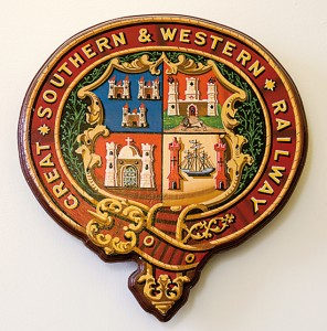 The coats of arms of the Great Southern and Western railway.