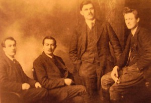 Seumus Robinson, Sean Treacy, Dan Breen and Michael Brennan. (Courtesy of Irish Volunteer website).