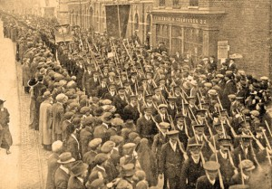 The Irish Volunteers on the march, February 1914. (Courtesy of An Phoblacht).