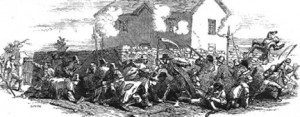 A depiction of the Young Irelanders' failed rebellion in 1848.