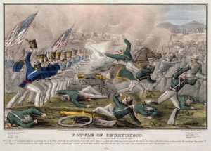 The battle of Chrubusco in 1847 during the Mexican American War.