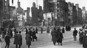 Dublin city centre in ruins in 1916, a taste of the wider war.