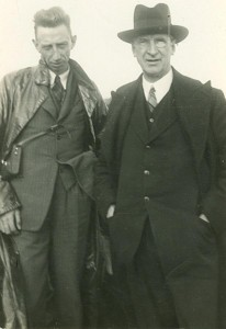 Todd Andres with Eamon de Valera (Courtesy of the Irish Volunteers website)