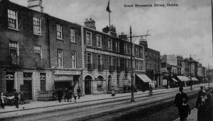 Great Brunswick Street (now Pearse Street) in the earl 20th century.