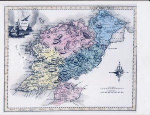 Donegal in 1790. Buncrana is on the top right. (Courtesy of the History of Donegal Website).
