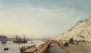 The 'English Embankment' in St Petersberg, 1835.