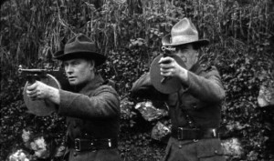 Two IRA Volunteer demonstrate the Thompson submachine gun