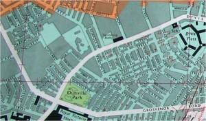 Map of Lower Falls and Clonard