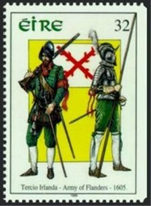 A stamp commemorating the 'Tercio Irlanda'.