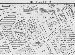 'Little Ireland' in Manchester, demolished 1877.