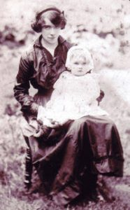Muriel and her baby daughter Barbara.