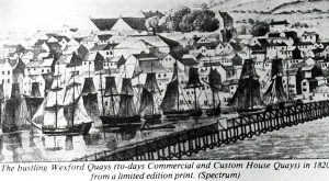 Wexford docks c 1820 (c.o. www.irlandeses.org)