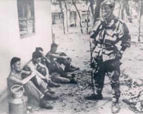 Irish prisoners being gaurded by Katangese mercenary forces after the battle of Jadotville.