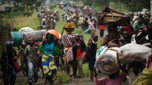 Refugees uprooted by the more recent wars in the Congo.